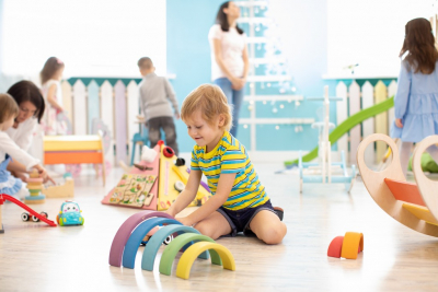 kids playing in a room