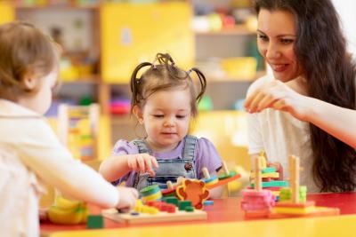 preschool teacher smiling