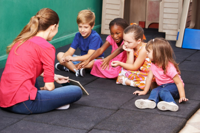 kids readng a book