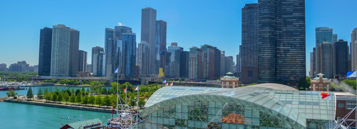 Chicago city from Navy pier